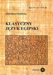 okładka Klasyczny język egipski, Ebook | Albertyna  Dembska