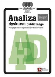 okładka Analiza dyskursu publicznego, Ebook | Praca zbiorowa