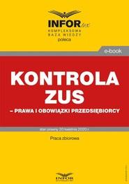okładka Kontrola ZUS – prawa i obowiązki przedsiębiorcy, Ebook | Praca Zbiorowa