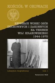okładka Represje wobec osób duchownych i zakonnych, Książka | Józef Marecki