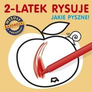 okładka 2-latek rysuje. Jakie pyszne, Książka | Cichy Ludwik