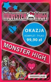okładka Monster High. Upiorna szkoła / Upiór z sąsiedztwa / Po moim trupie / O wilku mowa / Zabójczo stylowy notes Pakiet, Książka   Harrison Lisi