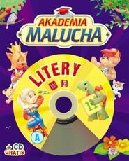 okładka Akademia malucha. Litery z płytą CD, Książka | Urszula Kozłowska
