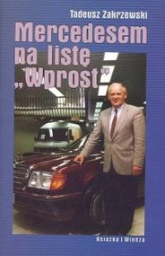okładka Mercedesem na listę Wprost, Książka   Zakrzewski Tadeusz