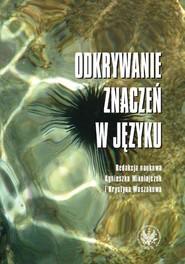 okładka Odkrywanie znaczeń w języku, Książka |