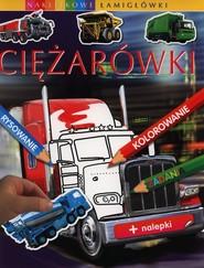okładka Ciężarówki Naklejkowe łamigłówki, Książka | Emilie Beaumont