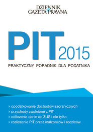 okładka PIT 2015 Praktyczny poradnik dla podatnika, Książka |