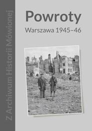 okładka Powroty Warszawa 1945-46, Książka | Szymańska Magda