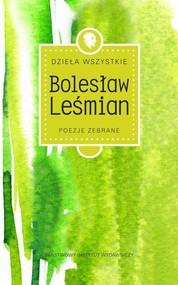 okładka Dzieła wszystkie Tom 1 Poezje zebrane, Książka   Bolesław  Leśmian