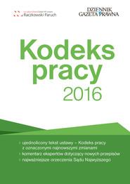 okładka Kodeks pracy 2016, Książka | Sławomir Paruch, Robert Stępień