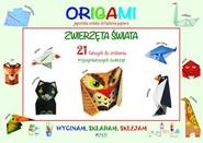 okładka Wycinam składam sklejam Origami Zwierzęta świata, Książka | Mazza Irene