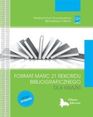 okładka Format MARC 21 rekordu bibliograficznego dla książki, Książka  