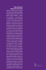okładka Nagrania terenowe, Książka | Szałasek Filip