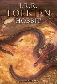 okładka Hobbit wersja ilustrowana, Książka   J.R.R.  Tolkien