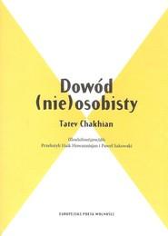 okładka Dowód (nie) osobisty, Książka | Chakhjan Tatev