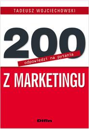 okładka 200 odpowiedzi na pytania z marketingu, Książka   Tadeusz  Wojciechowski