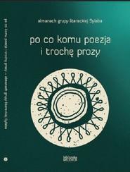 okładka Po co komu poezja i trochę prozy, Książka  