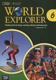 okładka World Explorer 6 Podręcznik + CD Szkoła podstawowa, Książka   Jennifer Heath, Michele Crawford, Marta Mrozik-Jadacka, Sochaczewska-Kuleta Jolanta