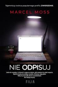 okładka Nie odpisuj, Książka | Marcel Moss