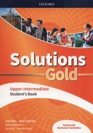 okładka Solutions Gold Upper-Intermediate Podręcznik Szkoła ponadpodstawowa i ponadgimnazjalna, Książka | Tim Falla, Paul A. Davies