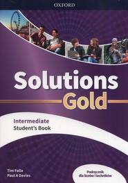 okładka Solutions Gold Intermediate Podręcznik Szkoła ponadpodstawowa i ponadgimnazjalna, Książka | Tim Falla, Paul A. Davies