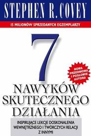 okładka 7 nawyków skutecznego działania, Książka   Stephen R. Covey