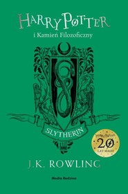 okładka Harry Potter i kamień filozoficzny Slytherin, Książka   Joanne K. Rowling