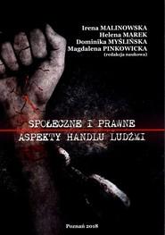 okładka Społeczne i prawne aspekty handlu ludźmi, Książka | Praca Zbiorowa