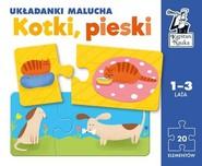 okładka Kotki pieski Układanki malucha Kapitan Nauka, Książka |