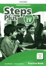 okładka Steps Plus 4 Materiały ćwiczeniowe z kodem dostępu do Online Practice Szkoła podstawowa, Książka   Sylvia Wheeldon, la Mare Christina de