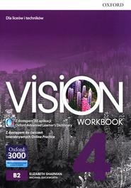 okładka Vision 4 Workbook Liceum technikum, Książka   Elizabeth Sharman, Michael Duckworth