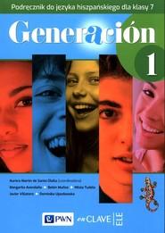 okładka Generacion 1 Podręcznik do języka hiszpańskiego dla klasy 7 Szkoła podstawowa, Książka  