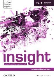 okładka Insight Advanced Workbook with Online Practice Szkoły ponadpodstawowe, Książka   Mike Sayer, Amanda Maris