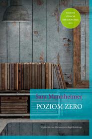 okładka Poziom zero, Ebook | Sara Mannheimer