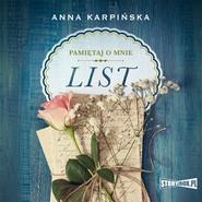 okładka Pamiętaj o mnie. Tom 1. List, Audiobook | Anna Karpińska