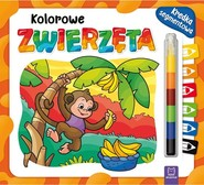 okładka Kolorowe zwierzęta Kredka segmentowa, Książka |