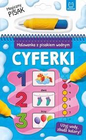 okładka Malowanka z pisakiem wodnym Cyferki, Książka |