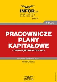 okładka Pracownicze plany kapitałowe – obowiązki pracodawcy, Ebook | dr Aneta Olędzka