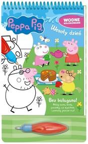 okładka Peppa Pig Wodne kolorowanie. Wesoły dzień., Książka  