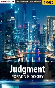okładka Judgment - poradnik do gry, Ebook   Grzegorz Misztal