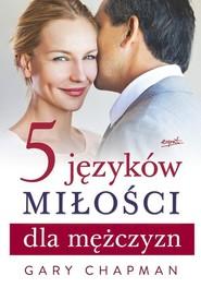 okładka 5 języków miłości dla mężczyzn, Książka | Gary Chapman