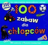 okładka 100 zabaw dla chłopców, Książka   Brown Rennie