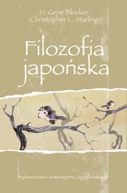 okładka Filozofia japońska, Książka | H. Gene Blocker, Christopher L. Starling
