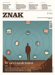 okładka ZNAK 744 5/2017: W sieci uzależnień, Książka  