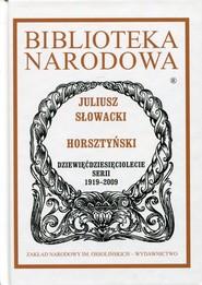 okładka Horsztyński, Książka | Juliusz Słowacki