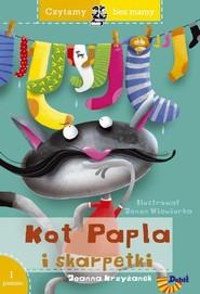 okładka Czytamy bez mamy Kot Papla i skarpetki Poziom 1 Pierwsze kroki, Książka | Joanna  Krzyżanek