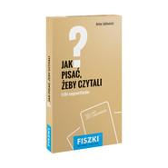 okładka Fiszki Jak pisać żeby czytali, Książka | Artur Jabłoński