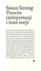 okładka Przeciw interpretacji i inne eseje, Książka | Susan Sontag