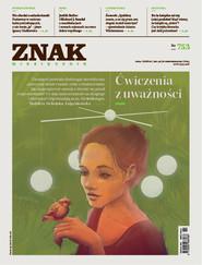 okładka ZNAK 753 2/2018: Ćwiczenia z uważności, Książka |