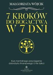 okładka 7 kroków do bogactwa w 7 dni, Książka | Wójcik Magdalena